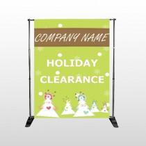 Holiday Clearance 13 Pocket Banner Stand