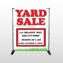 House In Grass 548 Pocket Banner Stand