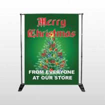Merry Christmas 29 Pocket Banner  Stand