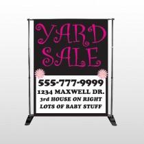Pink Yard Sale 550  Pocket Banner Stand