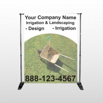 Wheel Barrow 261 Pocket Banner Stand