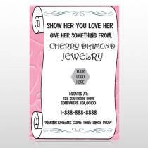 Scroll Pink Heart 397 Custom Sign