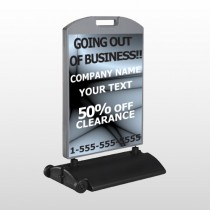 Gray Going Out of Business 12 Wind Frame Sign