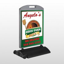 Pizza 129 Wind Frame Sign