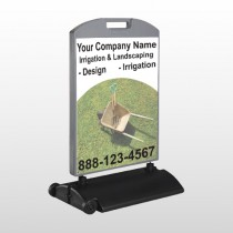Wheel Barrow 261 Wind Frame Sign