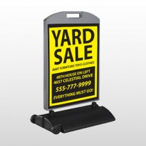 Yellow Black 551 Wind Frame Sign