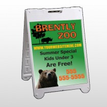 Bear Zoo 302 A Frame Sign