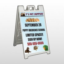 Pet Supplies 305 A Frame Sign