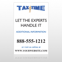 Tax Time 171 Custom Sign