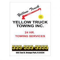 Towing 125 Custom Sign