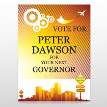 Vote City Sign Governor 267 Custom Sign