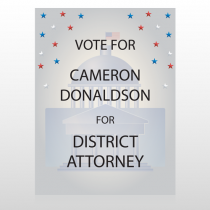 Vote Court Attorney 268 Custom Sign