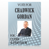 Vote Star Clerk 271 Custom Sign