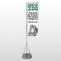 Zoo 127 Exterior Flag Banner Stand
