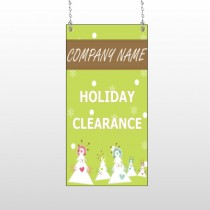 Holiday Clearance 13 Window Hanging Sign
