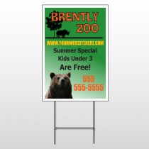 Bear Zoo 302 Wire Frame Sign