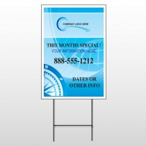 North Compass 148 Wire Frame Sign