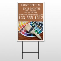 Paint Brushes 256 Wire Frame Sign