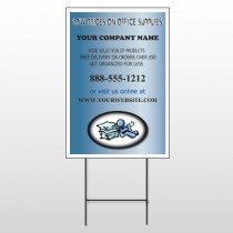 Paper & Figure 146 Wire Frame Sign
