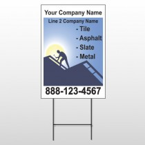 Roofing 258 Wire Frame Sign