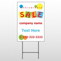 Square Circle Sale 15 Wire Frame Sign
