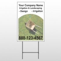 Wheel Barrow 261 Wire Frame Sign