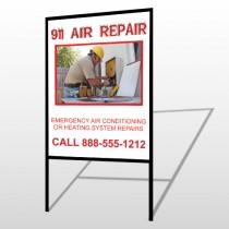 AC Repair 251 H-Frame Sign