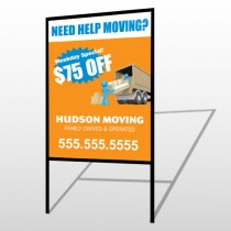 Blue Moving 294 H Frame Sign