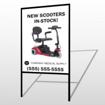 New Scooter 100 H-Frame Sign