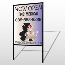 Nurse Bear 504 H-Frame Sign