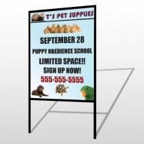 Pet Supplies 305 H Frame Sign