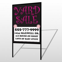 Pink Girl Sale 552 H-Frame Sign
