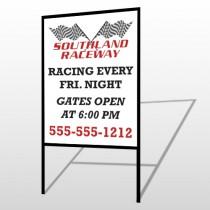 Racetrack 31 H-Frame Sign