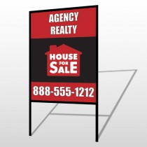 Red House Sale 254 H-Frame Sign
