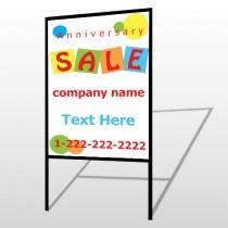 Square Circle Sale 15 H-Frame Sign