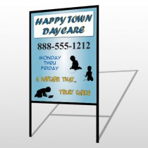 True Happy Care 182 H Frame Sign