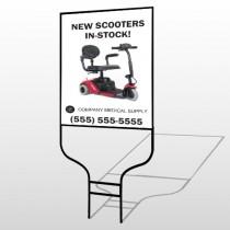 New Scooter 100 Round Rod Sign