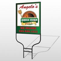 Pizza 129 Round Rod Sign