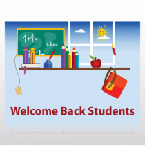 Welcome Back Students Sign Panel